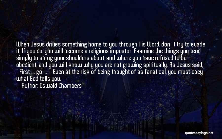 Why Even Try Quotes By Oswald Chambers