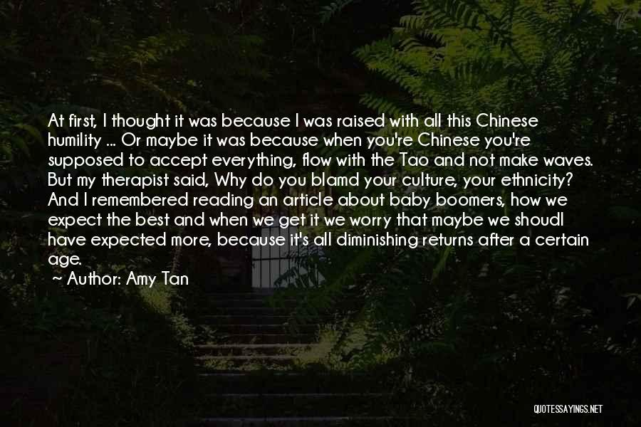 Why Not To Worry Quotes By Amy Tan