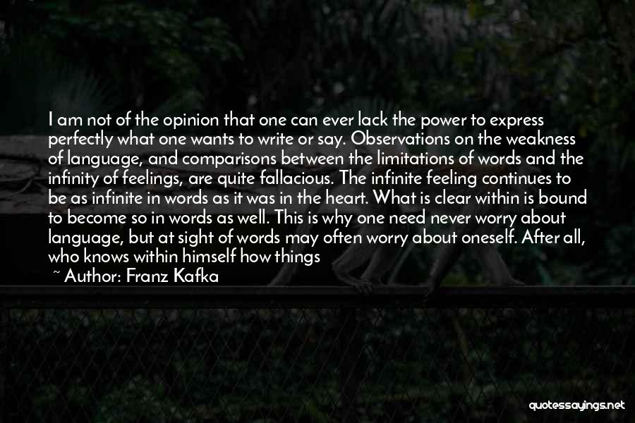 Why Not To Worry Quotes By Franz Kafka