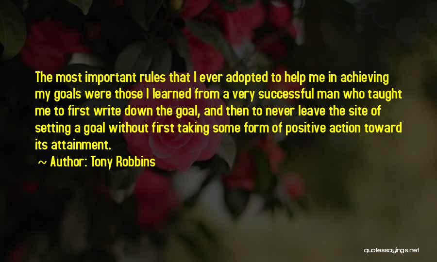 Why Rules Are Important Quotes By Tony Robbins