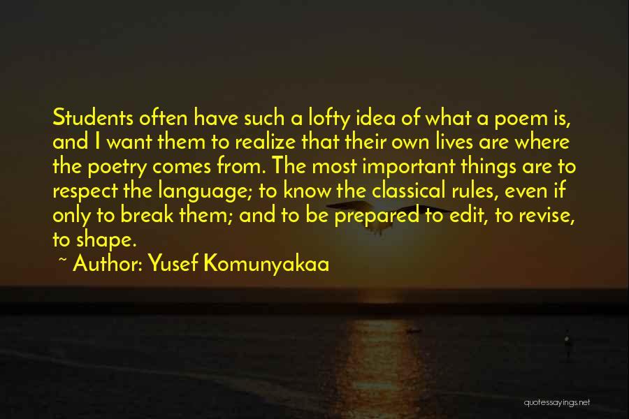 Why Rules Are Important Quotes By Yusef Komunyakaa