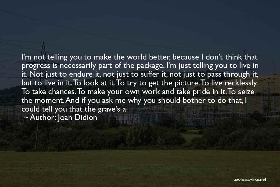 Why Should I Bother Quotes By Joan Didion