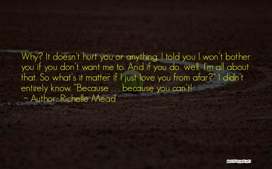 Why Should I Bother Quotes By Richelle Mead