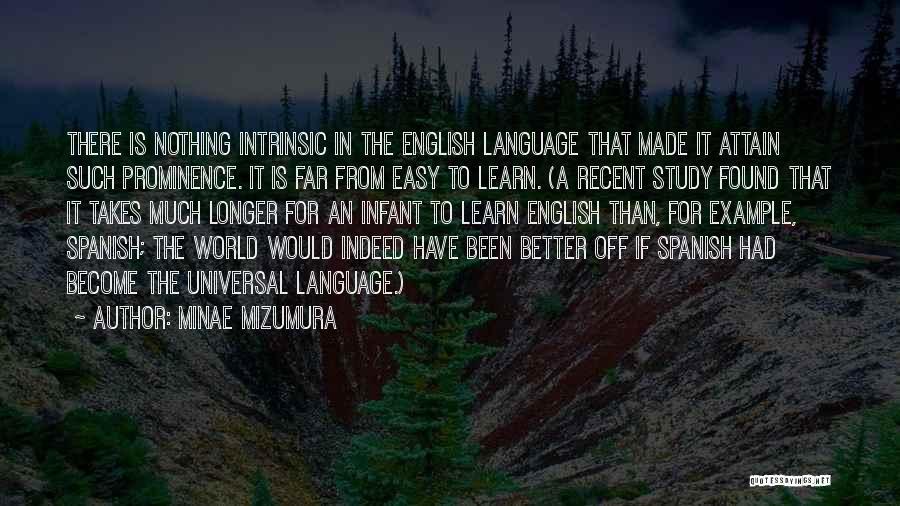 Why Study Spanish Quotes By Minae Mizumura