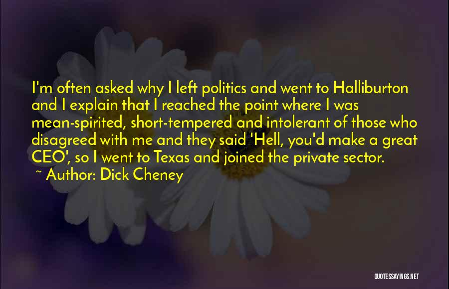 Why You Left Me Quotes By Dick Cheney