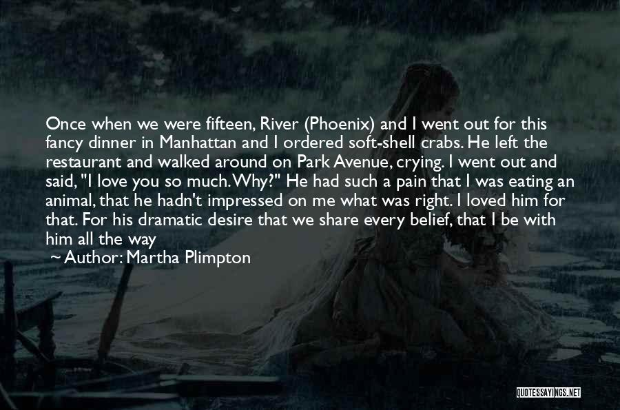 Why You Left Me Quotes By Martha Plimpton