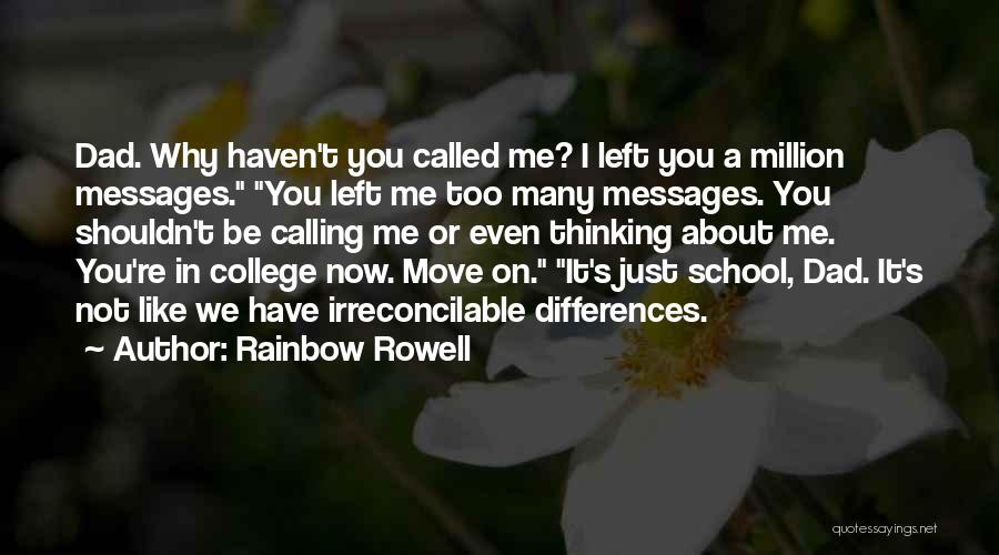 Why You Left Me Quotes By Rainbow Rowell