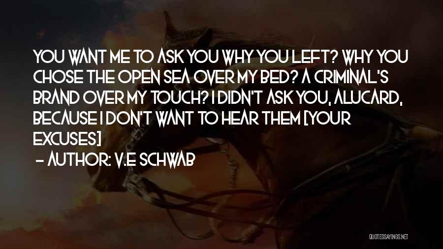 Why You Left Me Quotes By V.E Schwab