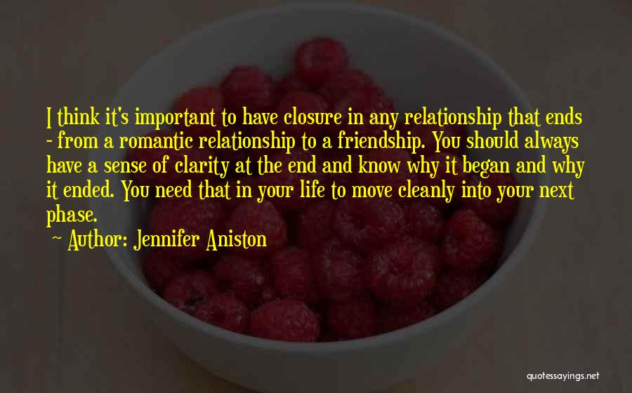 Why You Should Move On Quotes By Jennifer Aniston
