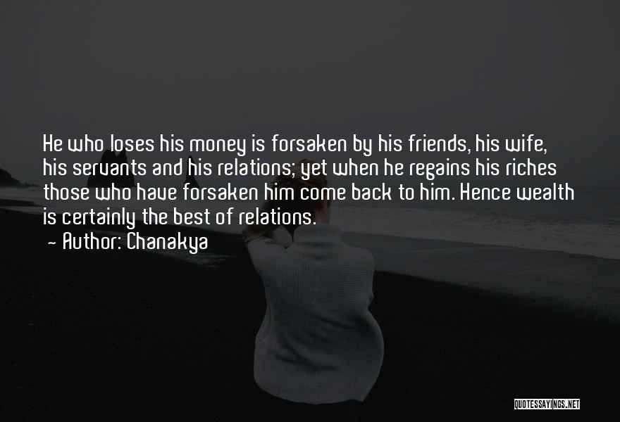 Wife And Friends Quotes By Chanakya