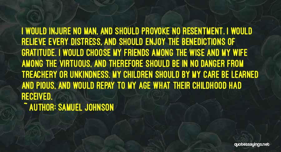 Wife And Friends Quotes By Samuel Johnson