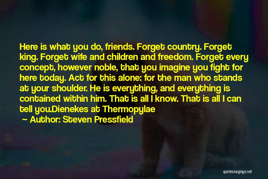 Wife And Friends Quotes By Steven Pressfield