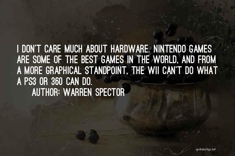 Wii Quotes By Warren Spector