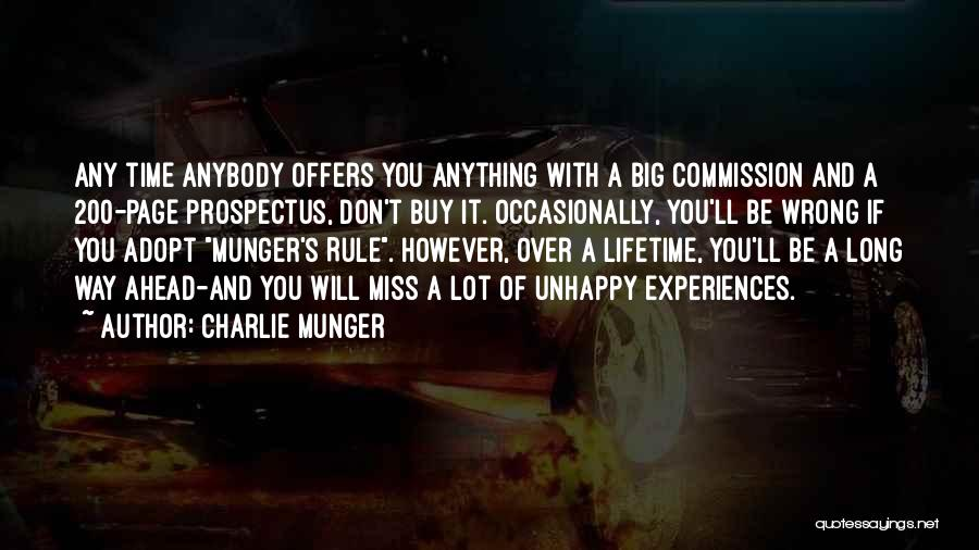 Will Be Missing You Quotes By Charlie Munger