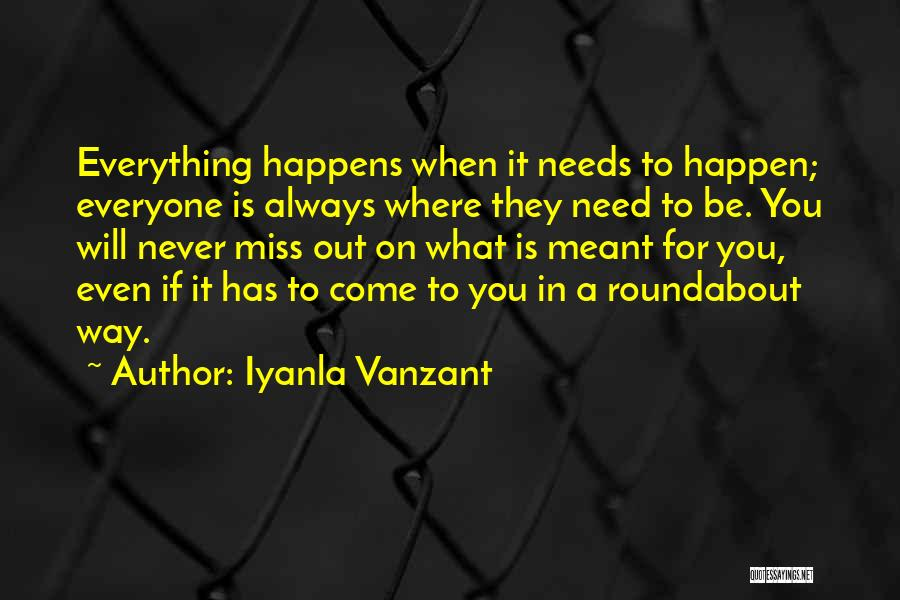 Will Be Missing You Quotes By Iyanla Vanzant