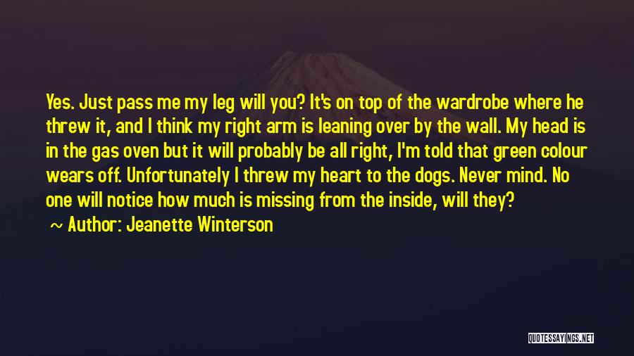 Will Be Missing You Quotes By Jeanette Winterson