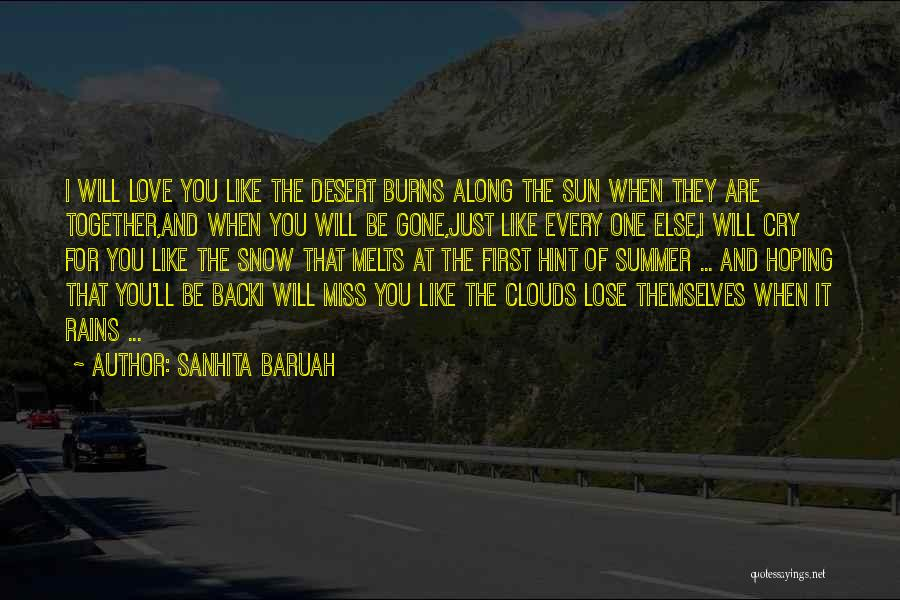 Will Be Missing You Quotes By Sanhita Baruah