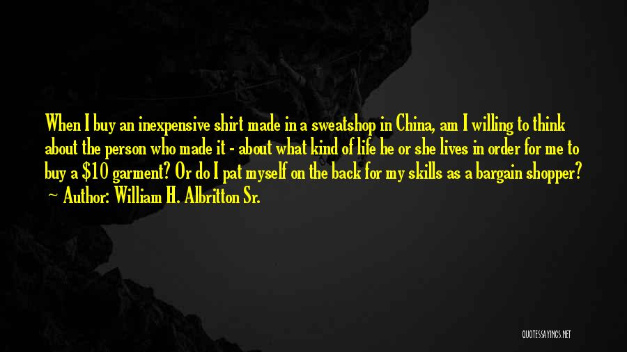 William H. Albritton Sr. Quotes 373471