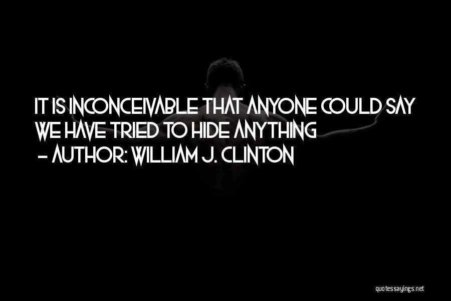 William J. Clinton Quotes 108904
