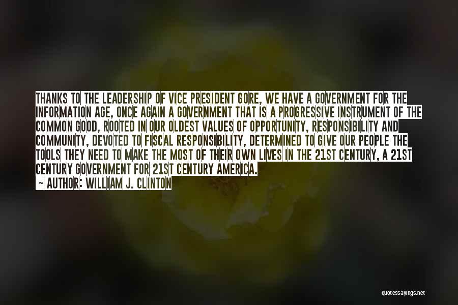 William J. Clinton Quotes 1265050