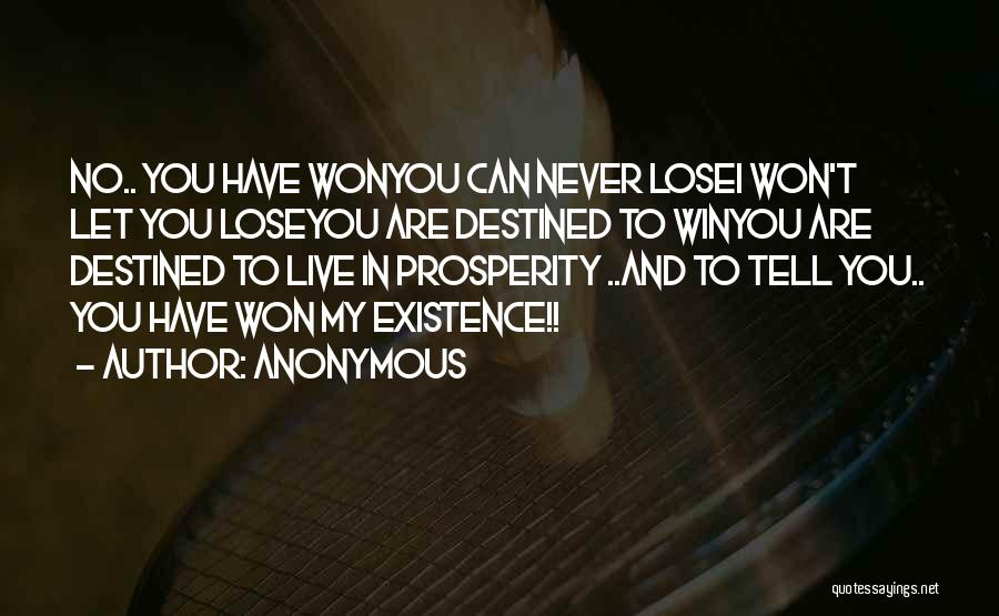 Win Or Lose Love Quotes By Anonymous