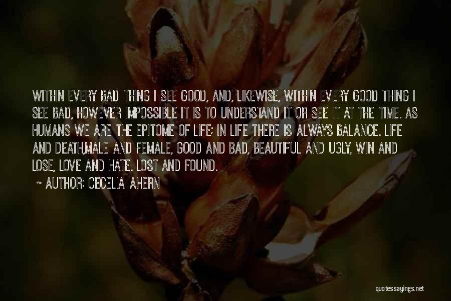 Win Or Lose Love Quotes By Cecelia Ahern