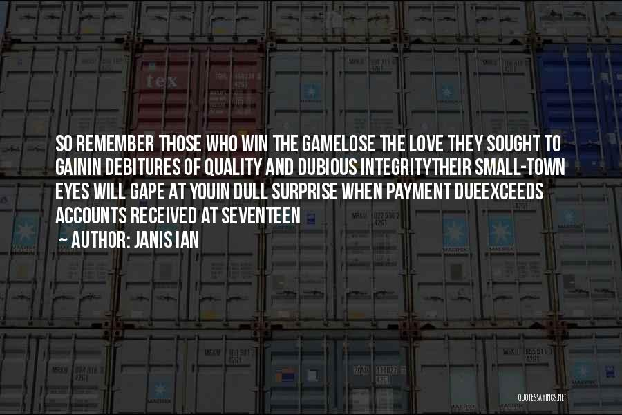 Win Or Lose Love Quotes By Janis Ian