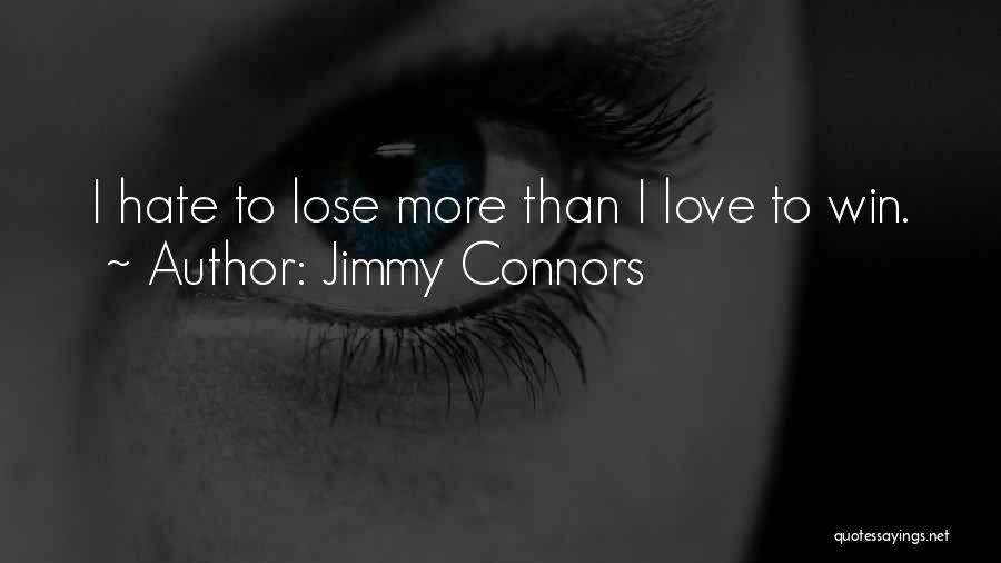 Win Or Lose Love Quotes By Jimmy Connors