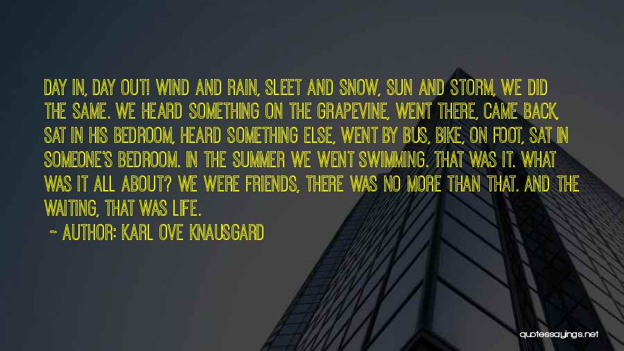 Wind And Friends Quotes By Karl Ove Knausgard