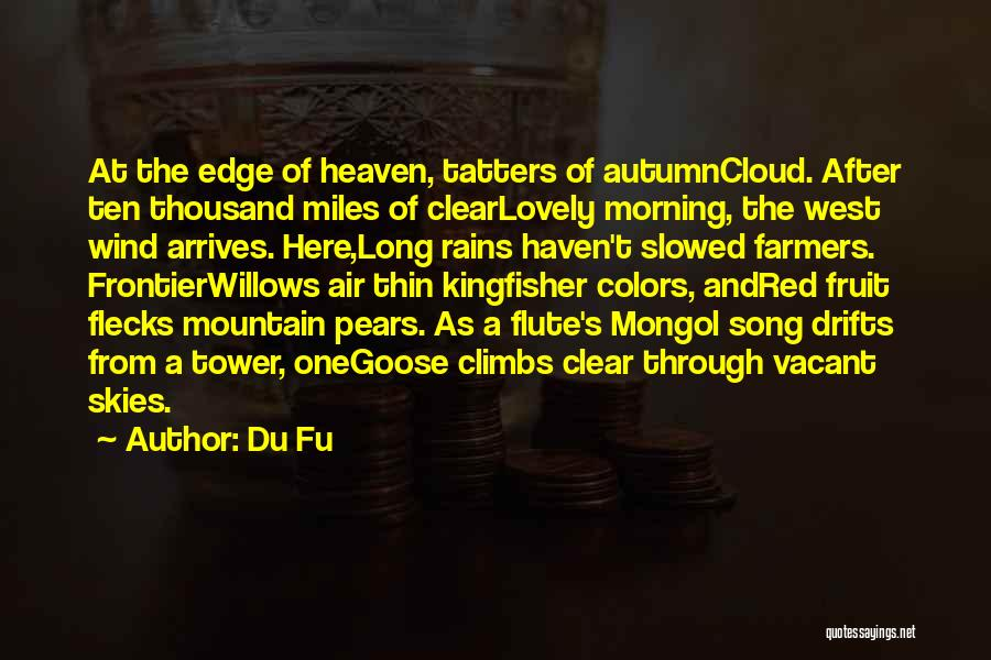 Wind In Willows Quotes By Du Fu