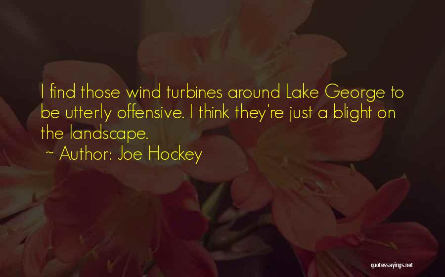 Wind Turbines Quotes By Joe Hockey