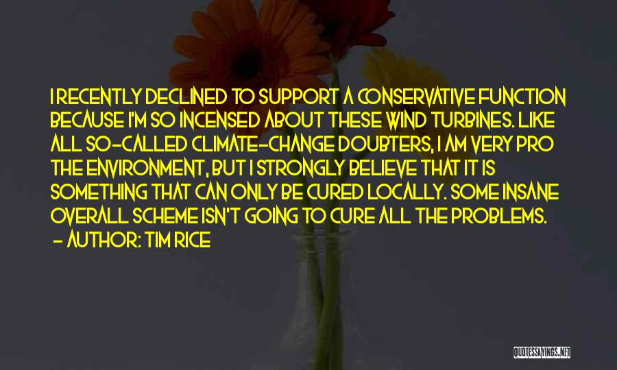 Wind Turbines Quotes By Tim Rice