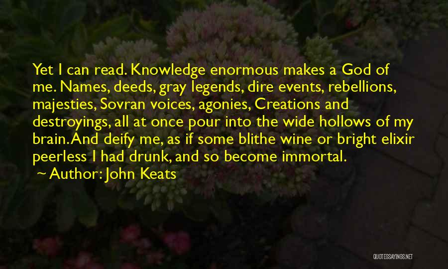 Wine Drunk Quotes By John Keats