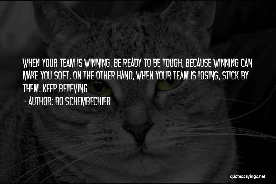 Winning And Losing As A Team Quotes By Bo Schembechler