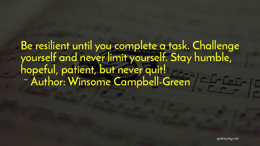 Winsome Campbell-Green Quotes 704055