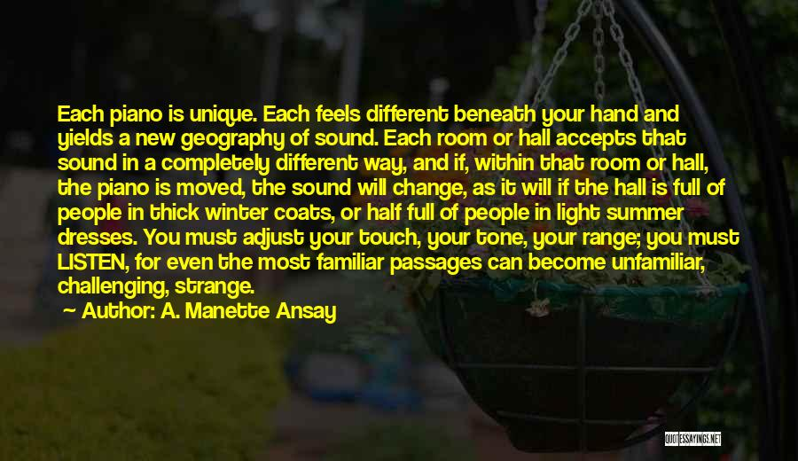Winter And Change Quotes By A. Manette Ansay