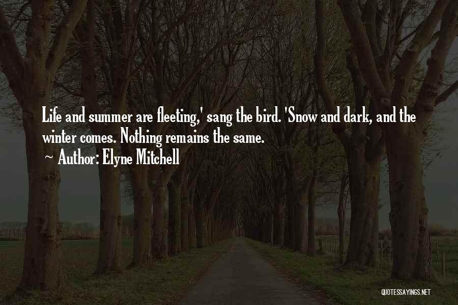 Winter And Change Quotes By Elyne Mitchell