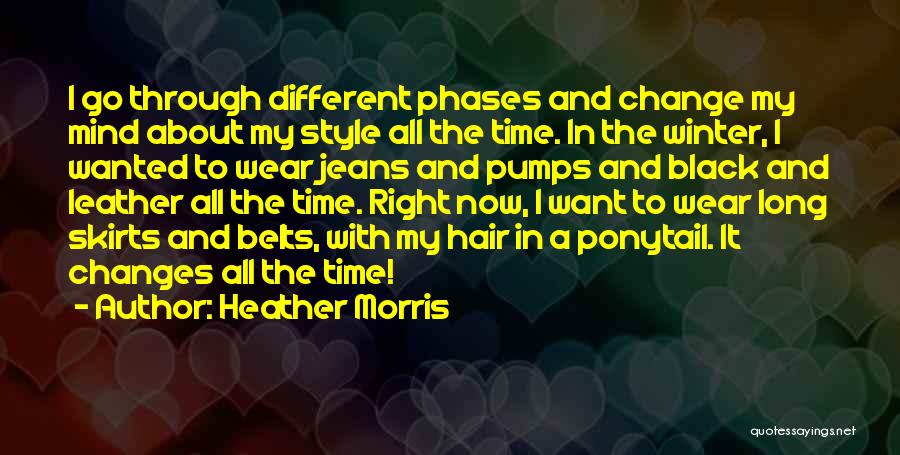 Winter And Change Quotes By Heather Morris