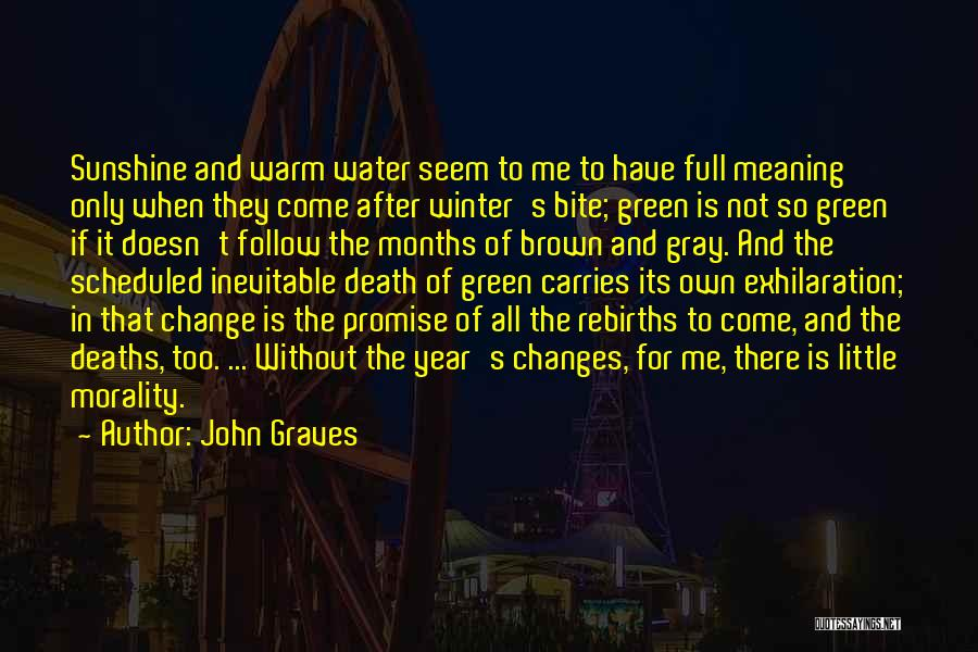 Winter And Change Quotes By John Graves