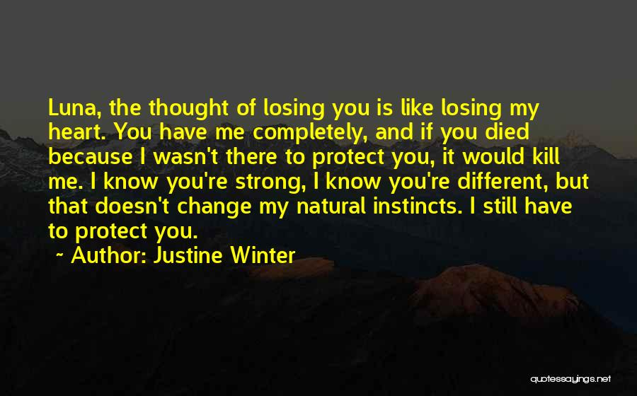 Winter And Change Quotes By Justine Winter