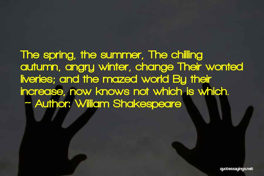 Winter And Change Quotes By William Shakespeare