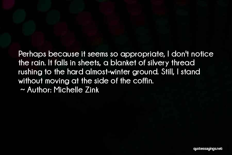 Winter Rainy Day Quotes By Michelle Zink