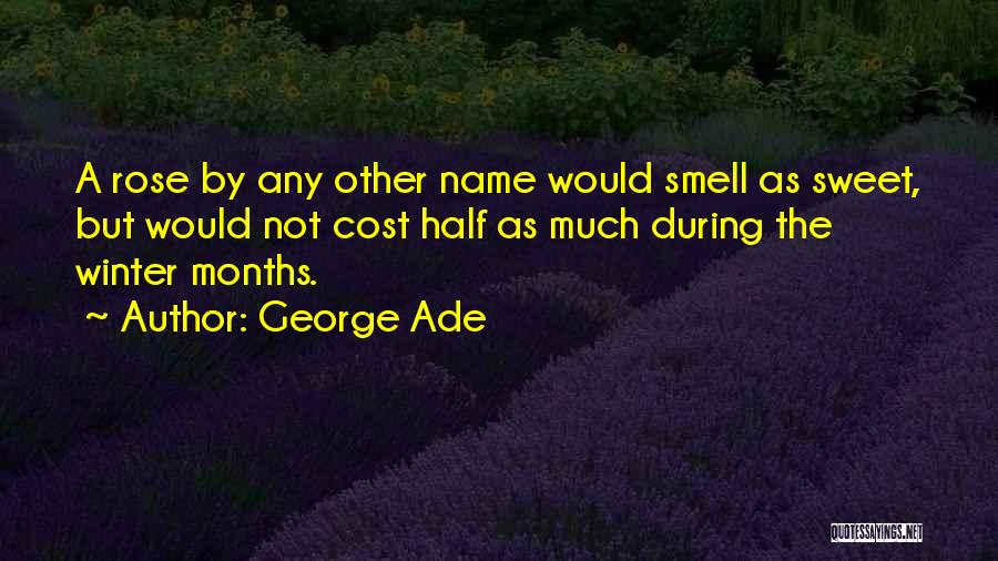 Winter Rose Quotes By George Ade