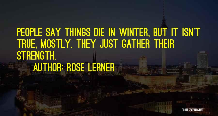 Winter Rose Quotes By Rose Lerner