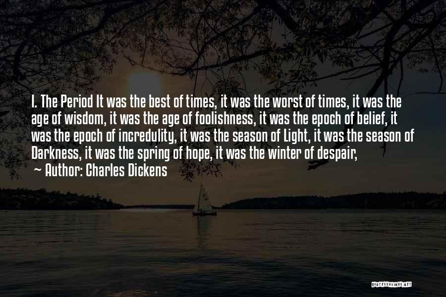 Winter Vs Spring Quotes By Charles Dickens