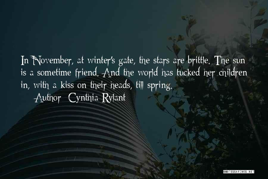 Winter Vs Spring Quotes By Cynthia Rylant