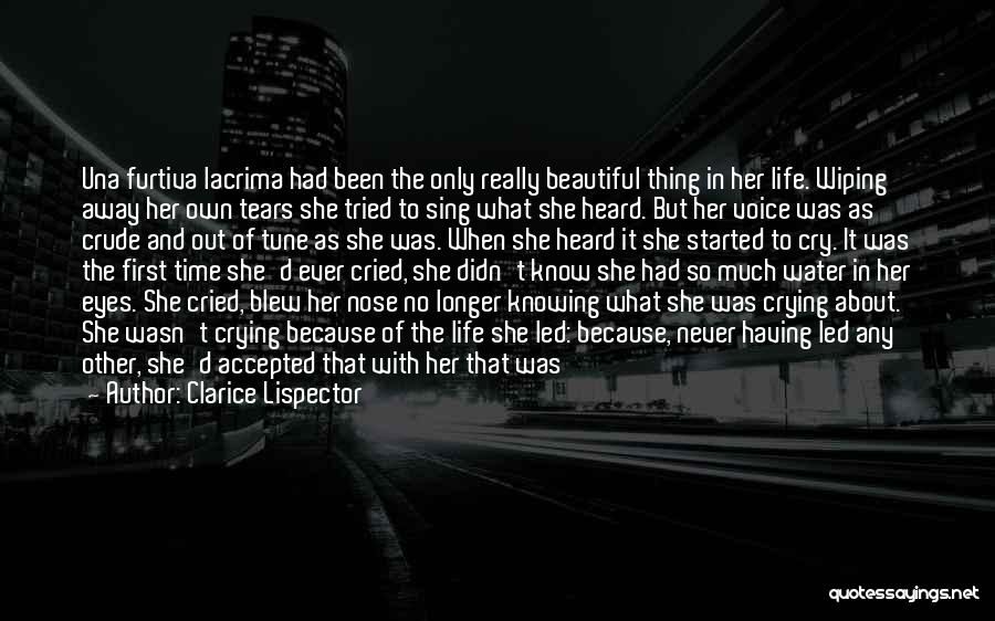 Wiping Tears Quotes By Clarice Lispector