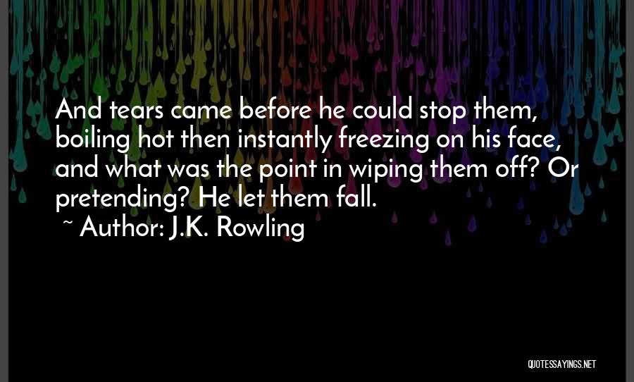 Wiping Tears Quotes By J.K. Rowling