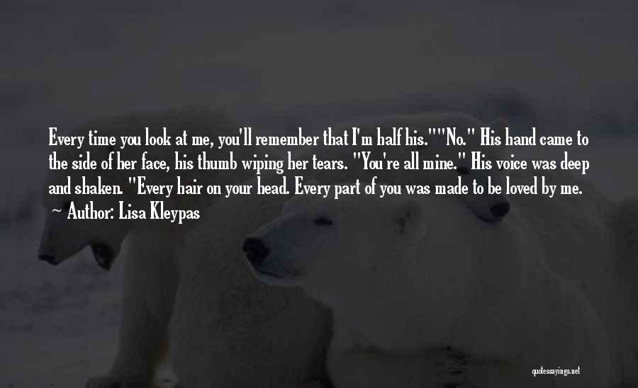 Wiping Tears Quotes By Lisa Kleypas