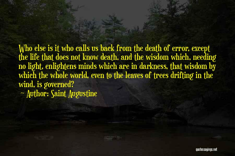 Wisdom And Trees Quotes By Saint Augustine